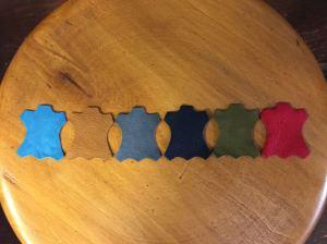 6色のエゾシカ革